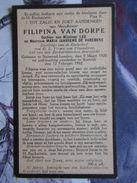 BIDPRENTJE FILIPINA VAN DORPE NORWOOD LONDON KORTRIJK - Religion & Esotérisme