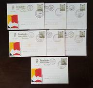 Thailand Postcard Stamp 1984 International Letter Writing Week - Herbs Postmark 7 Days (VF) #2 - Thailand