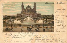 SOUVENIR DE PARIS - Le Palais Du Trocadéro, Carte 1900. - Otros Monumentos