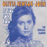 Olivia Newton John 45t. SP *If Not For You* - Vinyles