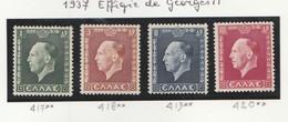 Grece N° 417 à 420** Serie Complete Effigie De Georges II, 4 Valeurs - Ungebraucht