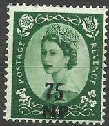 Muscat (Oman) - 1960 Queen Elizabeth II Overprint 75np MH *  Sc 75 - Oman