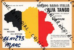 QSL - Gruppo Radio Italia - Alfa Tango - Division Belgium - 16 AT293 - 1992 - Radio Amatoriale