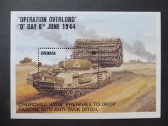 Bloc 357 Feuillet  Guerre Mondiale Tank Churchill 1944 Grenada  ( Opération Overlord ) - Guerre Mondiale (Seconde)