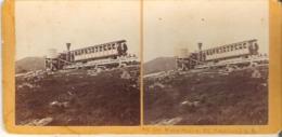 Water Station Mount Washington Cog Railway, Mount Washington, New Hampshire Stereoscope Card - Stereoscope Cards