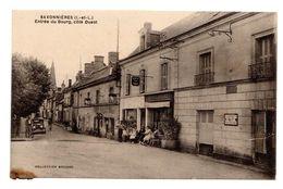 Carte Postale, Savonnières - Entrée Du Bourg - Café Du Pont, Pub Michelin, Garage, Animée - Other Municipalities