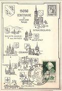 CM 55 - FRANCE Carte Journée Du Timbre Colmar 1949 - Dag Van De Postzegel