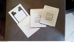 Coco CHANEL Mademoiselle Parfum Billet Lot De 3 - Modern (from 1961)