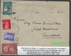 TURKEY , EARLY OTTOMAN SPECIALIZED FOR SPECIALIST, SEE....Brief Von Galata Nach Canakale -R- - Storia Postale