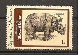 MALDIVES - A.DURER  Rinoceronte Nuovo** MNH - Rhinocéros