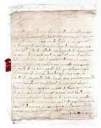 BOULLEY DE  .....à Monsieur Du Motté Conseiller Du Roy,en Son Logis à Falaise.mars 1737.1 Page - Autographes