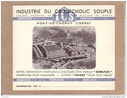 ISERE - PONT DE CHERUY - CARTE DE VISITE - CHAUSSURES - INDUSTRIE DU CAOUTCHOUC SOUPLE - ICS - Cartes De Visite