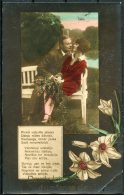 1928 Latvia Romantic Patriotic Postcard Liepaja - Latvia