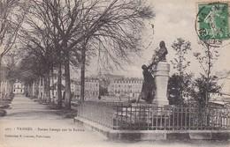 CPA Vannes - Statue Lesage Sur La Rabine - 1924 (31484) - Vannes