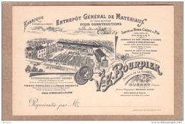 CREUSE - GUERET - CARTE DE VISITE - ENTREPÔT GENERAL DE MATERIAUX - VVE E. BOURDIER - Visiting Cards