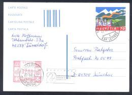 Switzerland Suisse Schweiz 1996 Postal Stationery Card Architecture Church; Mountains Tourism; Glucks Kette Solidarity - Ganzsachen