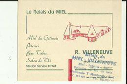 Carte De Visite Du RELAIS Du MIEL_R  VILLENEUVE Bar-Tabac-Station TOTAL A  MONTARGIS - Visiting Cards