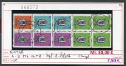 Qatar - Katar - Michel H-Blatt Mit 727 In A-D Ex MH / Carnet - Oo Oblit. Used Gebruikt - Michel 30,00 Euro - Qatar