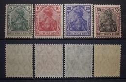 Dt.Reich Germania Friedensdruck 1905 ** Mi.Nr.85I,86I,87I,91I, Postfrisch Höher KW,-    (R253) - Deutschland