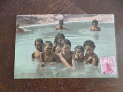 CPA Nouvelle Zélande Maori Children Wakarewarewa 1 TP Ancien Voyagée 1907 Stamp - Nuova Zelanda