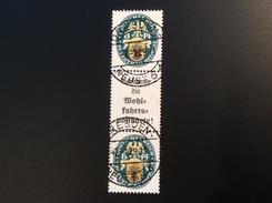Deutsches Reich Zusammendruck Nothilfe 1928 S59 (2000€) STEMPEL FÄLSCHUNG; FAUSSE  OBLIT.; FORGERY OF CDS - Se-Tenant