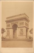 PARIS - L'ARC DE TRIOMPHE - TIRAGE ALBUMINE COLLE SUR CARTON FORT 16,5x11 Cms - Foto