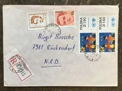 E15 Polen Poland Pologne 1983 R-Brief Von Tarnowskie Nach Rückersdorf Kinderzeichnungen - 1944-.... République