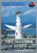 JP.- Japan, Telefoonkaart. Telecarte Japon. OSAKA MONORAIL - Treinen