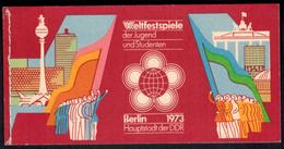 DDR Markenheftchen 7 I Weltspiele Der Jugend 1973 Tadellos Postfrisch - Markenheftchen
