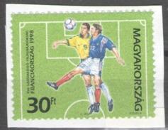 Hungary 1998 On Paper Football Soccer World Cup Championship Sport - Usado