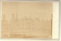 PARIS HOTEL DE VILLE - TIRAGE ALBUMINE COLLE SUR CARTON FORT 16,5x11 Cms - Photos