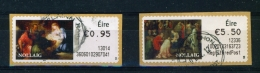 IRELAND  - 2012  Christmas  Stamps On A Roll  Full Set Of 2  CDS  Used  (stock Scan) - 1949-... Republic Of Ireland