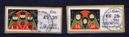 IRELAND  - 2016  Christmas  Stamps On A Roll  Full Set Of 2  CDS  Used  (stock Scan) - 1949-... Republic Of Ireland