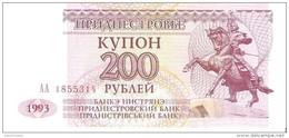 Transnistria - Pick 21 - 200 Rublei 1993 - Unc - Banconote