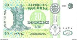 Moldova - Pick 13i - 20 Lei 2010 - Unc - Moldavie