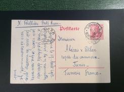 Deutsche Post In Der Türkei Ganzsache SMYRNA 1913 > TUNIS, Tunisie. Destination ! (cover Brief Lettre  Turkey Turquie - Ufficio: Turchia