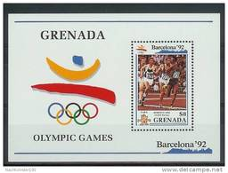 Mua863 SPORT OLYMPISCHE SPELEN HARDLOPEN 10000 METER OLYMPIC GAMES BARCELONA RUNNING ATHLETICS MEN GRENADA 1990 PF/MNH - Zomer 1992: Barcelona