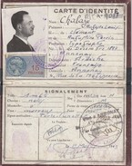 CARTE D'IDENTITÉ ARDECHE ANNONAY 1944. FISCAL 15F - Fiscali