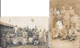LOT DE 2 CARTES PHOTOGRAPHIES CUISINIERS ET BOULANGERS - Guerre 1914-18