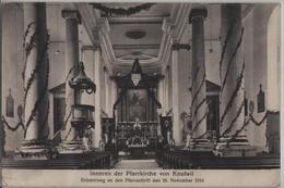 Inneres Der Pfarrkirche Von Knuttwil - Erinnerung An Den Pfarrauftritt Den 26. Nov. 1916 - LU Lucerne