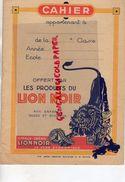 92- MONTROUGE PARIS- CAHIER CIRAGE DU LION NOIR - DETACHEUR DIABOLIC-LION BLANC-ARGENTIL MIROR - Chaussures