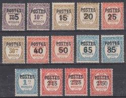Monaco 1937 Yvert#140-153 Mint Hinged - Monaco