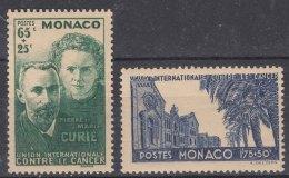 Monaco 1938 Yvert#167-168 Mint Hinged - Monaco