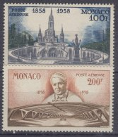 Monaco 1958 Airmail Stamps Mi#601-602 Mint Never Hinged - Unused Stamps