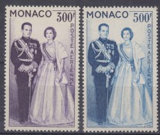 Monaco 1959 Airmail Stamps Mi#603-604 Mint Never Hinged - Unused Stamps
