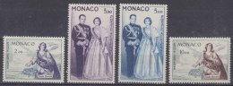 Monaco 1960 Airmail Stamps Mi#653-656 Mint Hinged - Unused Stamps