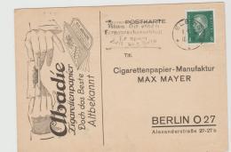W255 / Zigarettenpapier- Werbung + Werbestempel Für Telefonanschluss Elbing Nach Berlin - Briefe U. Dokumente