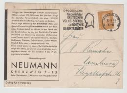 W256 / Goethe Spende-Werbestempel, Hamburg 1932 , Werbekarte Der Holzindustrie - Briefe U. Dokumente