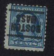 USA 603 SCOTT 467 BOSTON MASS. TANDING 10 - Estados Unidos