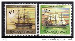 PAPOUASIE. HMS Fly  & Blanche Of The Royal Navy. Exploration Of New-Guinea.1842. Yv. # 560/1 .  2 T-p Neufs ** - Papouasie-Nouvelle-Guinée